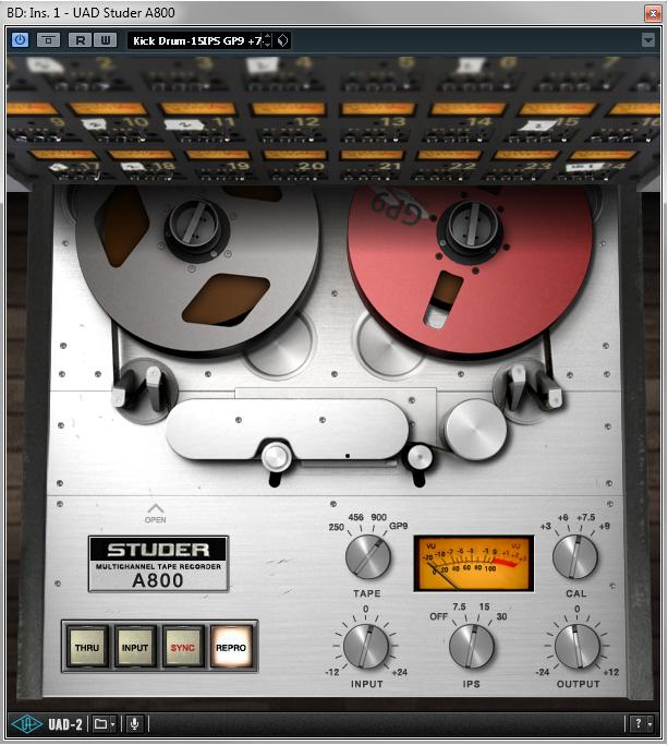 Pimp My Drums - UAD Studer A800