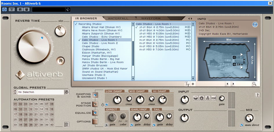 Altiverb Reverb