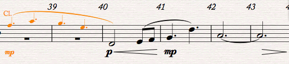 Score Preparation - Score Instrument Cue