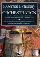 Essential Dictionary of Orchestration - T Gerou