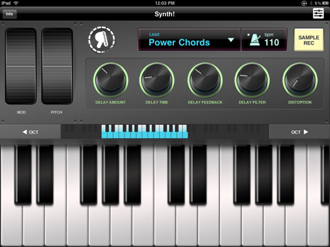 Synth iPad App