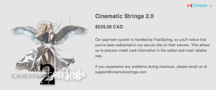Purchasing Cinematic Strings